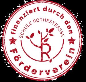 Stempel: Finanziert durch den Förderverein Schule Rothestraße