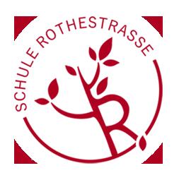 Logo der Schule Rothestraße: Ein stilisierter Baum mit dem Buchstaben R als Stamm